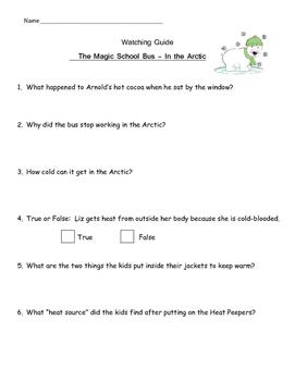 """Magic School Bus """"In the Arctic"""" - Heat, Insulators, Polar Region"""