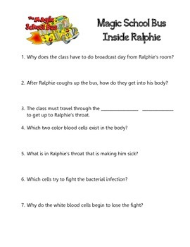 The Magic School Bus Inside Ralphie Episode Quizzes Key