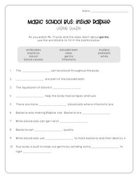 Magic School Bus Inside Ralphie - Germs Video Guide