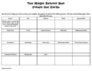 Magic School Bus: Inside the Earth- Fossils/Rocks