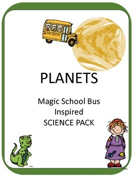 Magic School Bus Inspired INTERACTIVE NOTEBOOK Planet Study Centers ELA Games