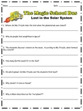 Magic School Bus: Lost in the Solar System Comprehension Questions