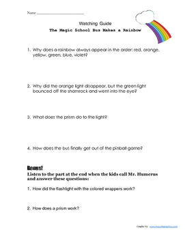 Magic School Bus- Makes a Rainbow