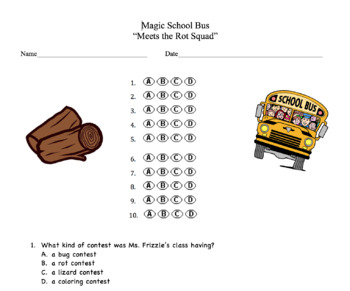 Magic School Bus Meets The Rot Squad Questions - A story about decomposition