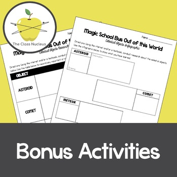 Magic School Bus Out of This World Video Worksheets + Bonus Activity