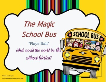 """Magic School Bus """"Plays Ball"""" Questions (Four Worksheets to a page!)"""