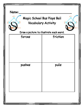 magic school bus plays ball vocabulary activity common core frameworks. Black Bedroom Furniture Sets. Home Design Ideas