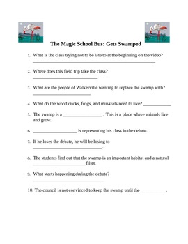Magic School Bus Quizzes - includes the quiz for 3 videos