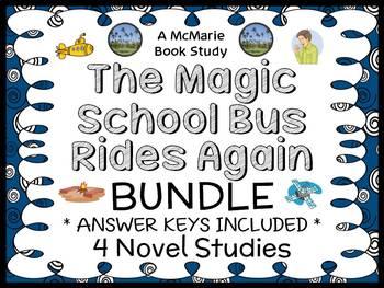 Magic School Bus Rides Again BUNDLE : 4 Novel Studies for Books #1-4 (83 pages)