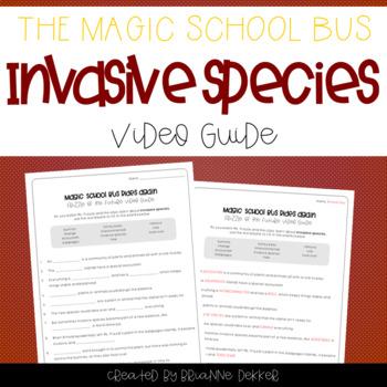 Magic School Bus Rides Again - Invasive Species Worksheets