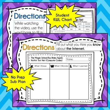 Magic School Bus Rides Again NOTHIN' BUT NET Video Guide, Worksheets, INTERNET
