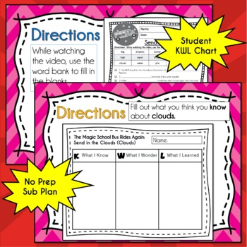 Magic School Bus Rides Again SEND IN THE CLOUDS Video Guide, Worksheets, Lesson