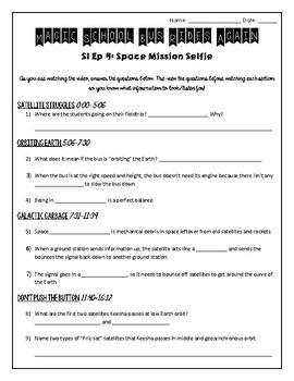Magic School Bus Rides Again- Space Mission: Selfie Worksheet (Satellites)