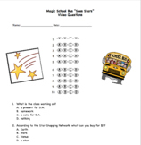 Magic School Bus Sees Stars Multiple Choice Questions (stars/space)