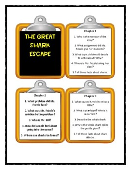 Magic School Bus THE GREAT SHARK ESCAPE - Discussion Cards