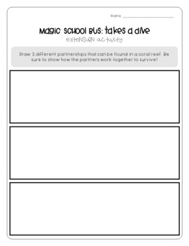 Magic School Bus Takes a Dive - Symbiosis Worksheets