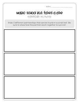 Magic School Bus Takes a Dive - Symbiosis Worksheets