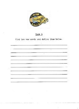 Magic School Bus Task Cards