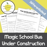 Magic School Bus Under Construction Video Worksheets + Bonus Activity