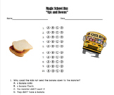 Magic School Bus Ups and Downs Multiple Choice Questions (sink or float)