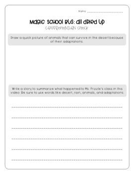 Magic School Bus Video Worksheets  *GROWING BUNDLE*