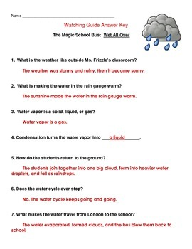 """Magic School Bus """"Wet All Over"""" - The Water Cycle"""