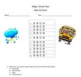 """Magic School Bus """"Wet All Over"""" video multiple choice questions  (water cycle)"""