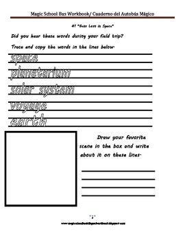 Magic School Bus Workbook/ Cuaderno del Autobus Mágico