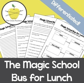 Magic School Bus for Lunch Differentiated Video Worksheets ...