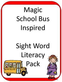 Magic School Bus inspired Sight Word ELA CENTER Games