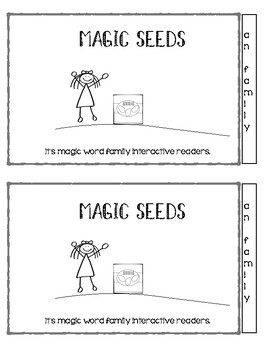 Magic Seeds Interactive Word Family CVC readers- an family
