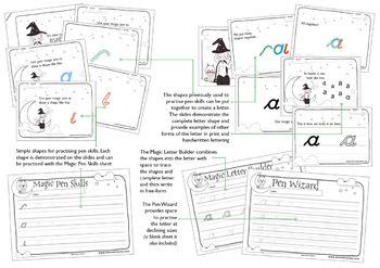 Magic Shapes Handwriting: cursive letters: Complete Alphabet