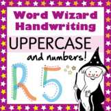 Magic Shapes: Uppercase Handwriting Scheme (& numbers)
