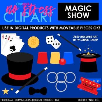 Magic Show Clip Art (Digital Use Ok!)