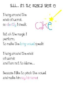 Magic Silent E Poem! {FREE} by Erin Clark | Teachers Pay Teachers