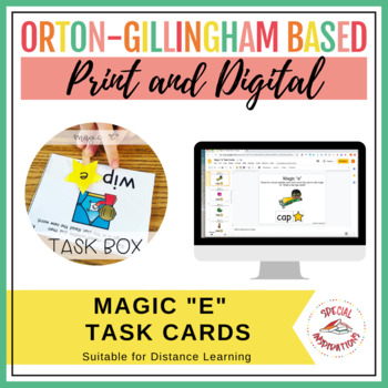 Magic/Silent E (VCE) Task Box (Orton-Gillingham)