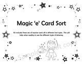 Magic Silent e Card Sort