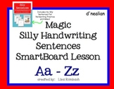 Magic Silly Silly Sentences Handwriting Practice SmartBoard lesson