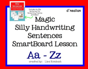 Magic Silly Silly Sentences Handwriting Practice SmartBoar