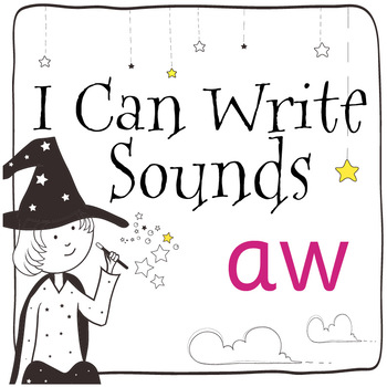 Magic Sounds Phonics: Set 45: words  with aw (as in draw)