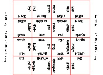Magic Spanish-English Squares: Basic Spanish Phrases and Colors
