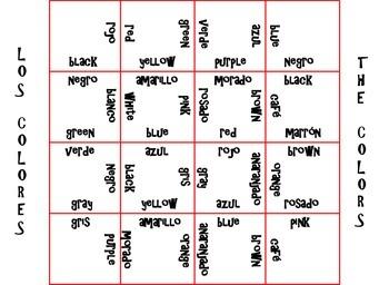Magic Spanish-English Squares: Basic Spanish Phrases and Colors