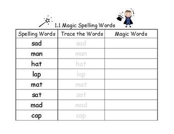 Magic Spelling Words--Freebie