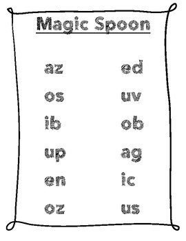 Magic Spoon! (CVC Non-Sense Word Game)