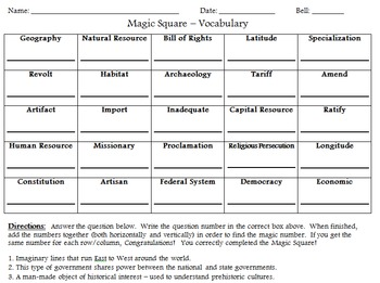 Magic Square Extension and Review Games