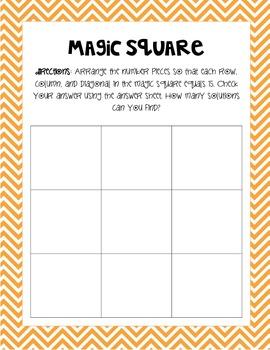 Magic Square - Math Center Activity