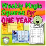 Math Logic Puzzles Magic Squares 1 Year Pack