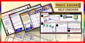 Magic Square: Measuring Line Segments (Google Interactive & Hard Copy)