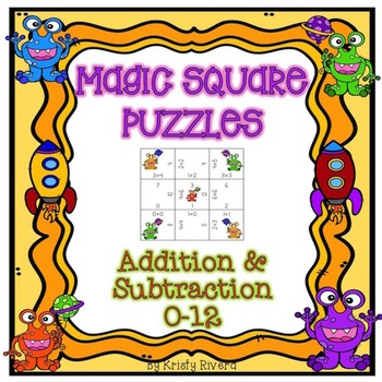 Magic Square Number Puzzles - Addition & Subtraction 0-12