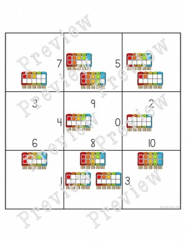 Magic Square Number Puzzles - Counting Tallies & Ten Frames 1-10